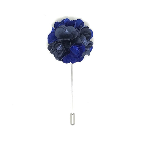 Space Blue Lapel Rose Boutonniere