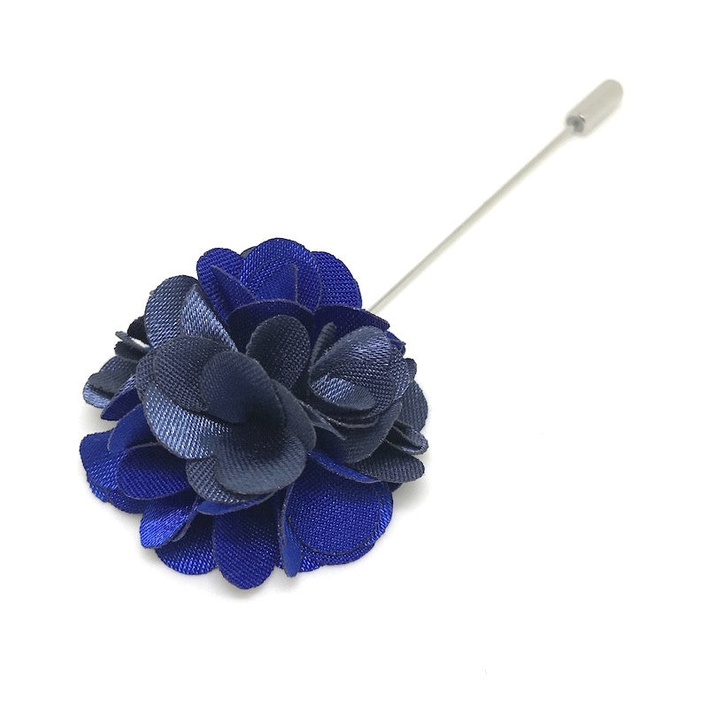 Lapel Pins - Space Blue Lapel Rose - The Little Link