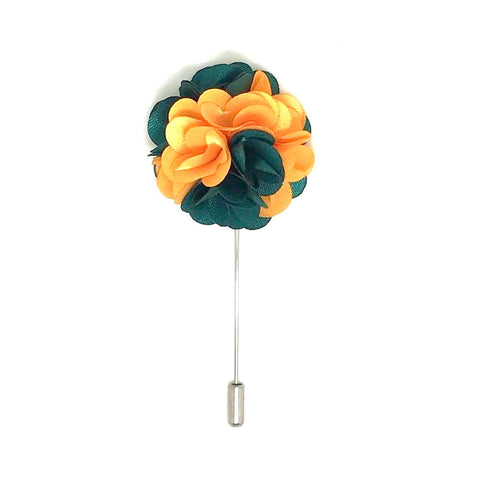 Orange and Green Lapel Rose