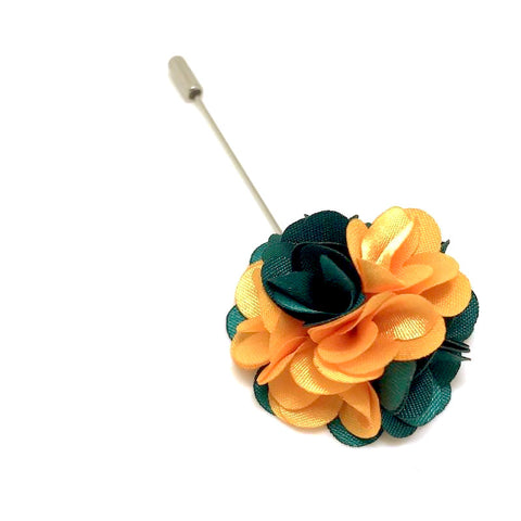 Orange and Green Lapel Rose Boutonniere