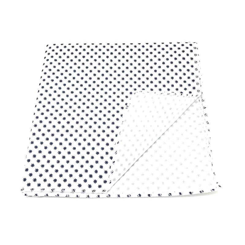 Pocket Squares - White Cotton Pocket Square - Alden - The Little Link