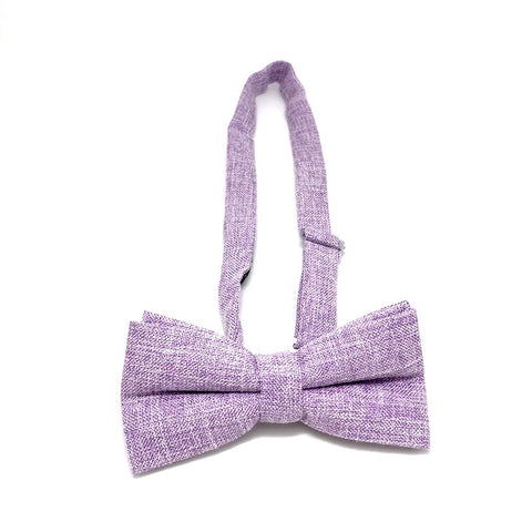 Bowties - Purple Textured Cotton Bow Tie - Andre - Andre - The Little Link