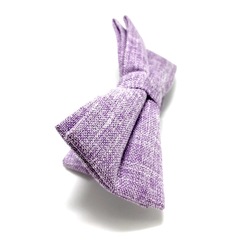 Bowties - Purple Textured Cotton Bow Tie - Andre - The Little Link