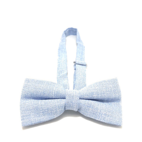 Bowties - Light Blue Textured Cotton Bow Tie - Aron - The Little Link