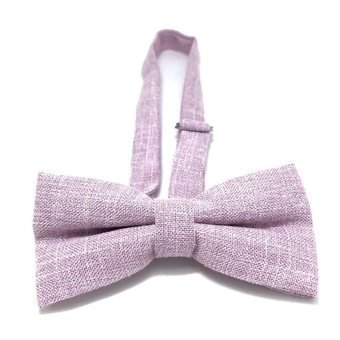 Bowties - Lilac Textured Cotton Bow Tie - Aubrey - The Little Link