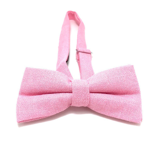 Bowties - Pink Textured Cotton Bowtie - Bob - The Little Link
