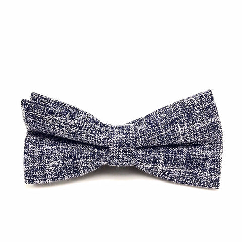 Bowties - Dark Grey Textured Cotton Bow Tie - Bradley - The Little Link