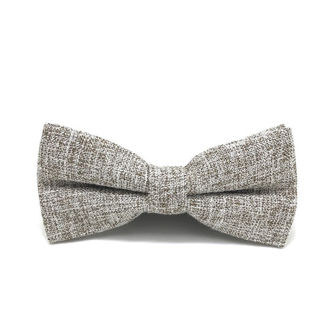 Bowties - Brown Textured Cotton Bow Tie - Braxton - The Little Link