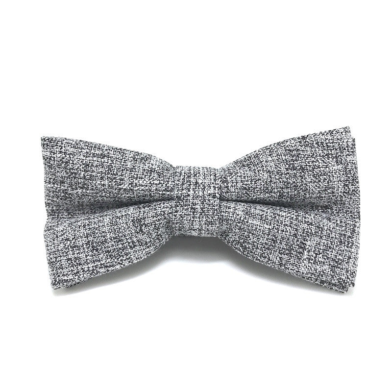 Bowties - Grey Textured Cotton Bow Tie - Carl - The Little Link