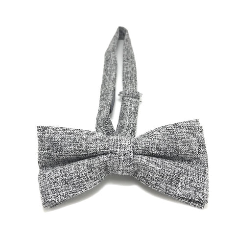 e26ee7d04198 ... Bowties - Grey Textured Cotton Bow Tie - Carl - The Little Link
