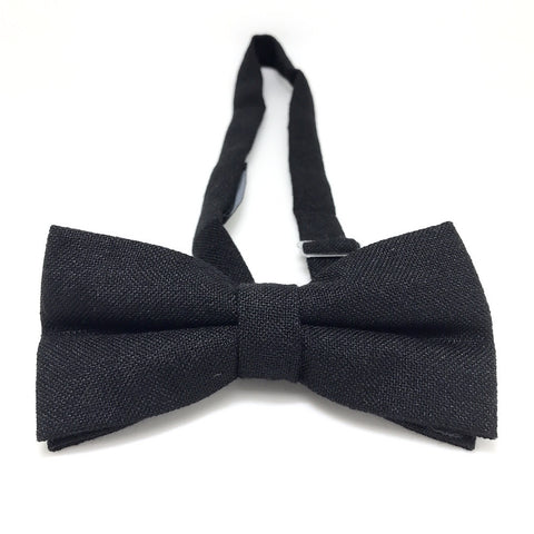 Black Tweed Bow Tie - Finley