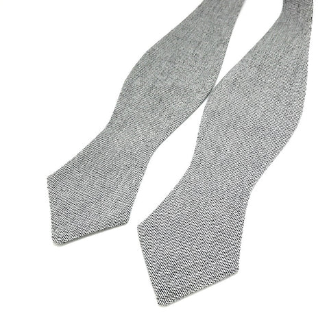 Bowties - Grey Monochrome Self-Tie Bow Tie - The Little Link