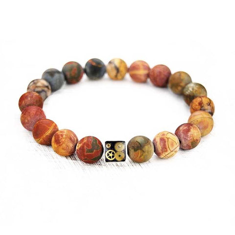 Bracelet - Picasso Jasper Bead Bracelet - The Little Link