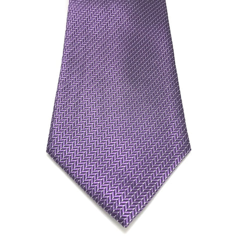 Purple Textured Silk Tie - Radley