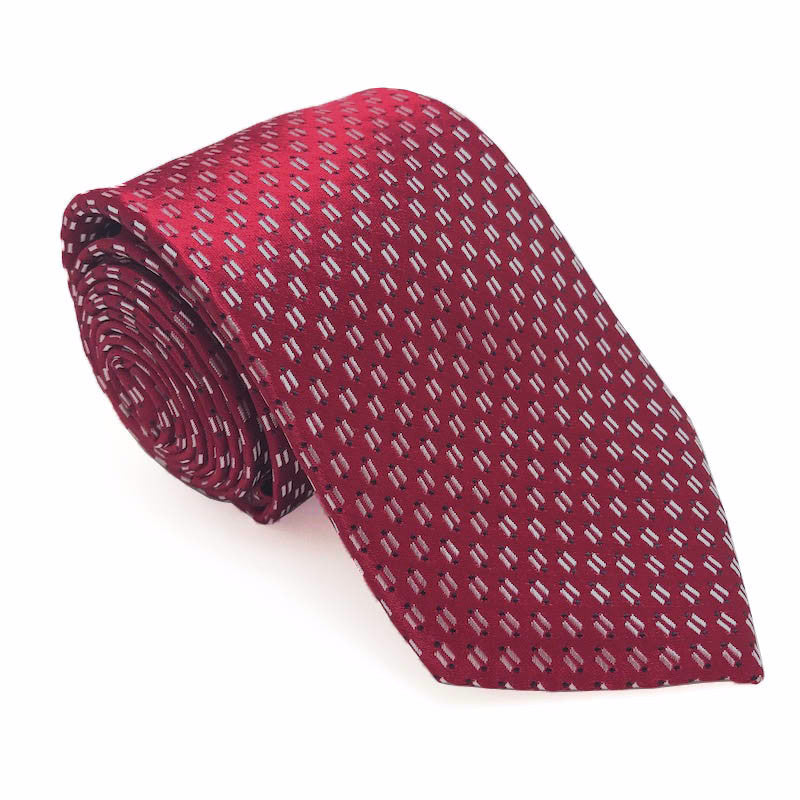 Red Patterned Silk Tie - Ralph