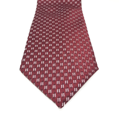 Ties - Ralph Red Silk Tie - The Little Link
