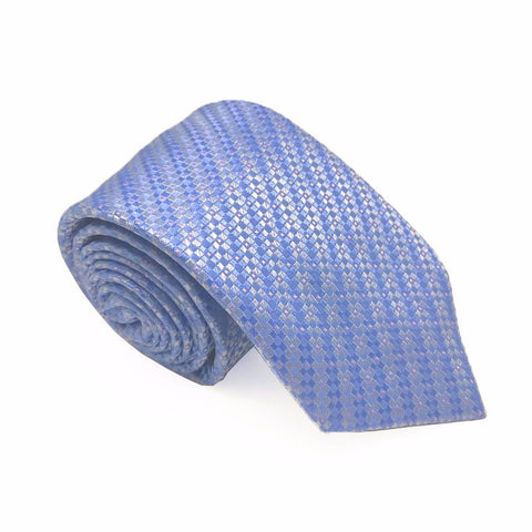 Blue Patterned Silk Tie - Rance