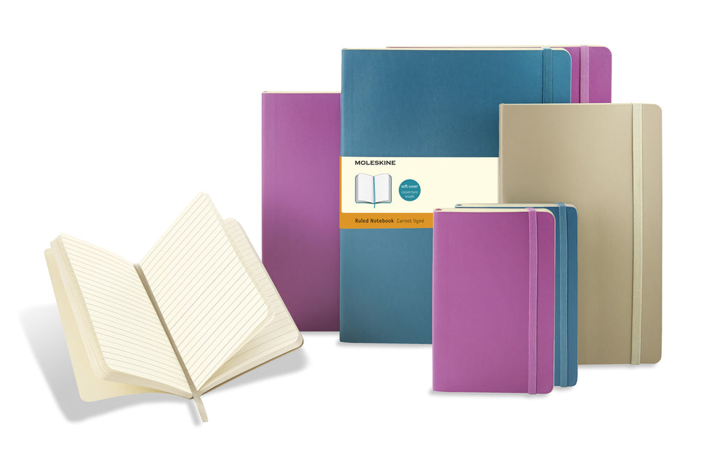 Notebook - Moleskine Khaki Beige Soft Cover Notebooks - The Little Link