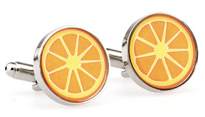Orange Food Cufflinks - Orange Squeeze