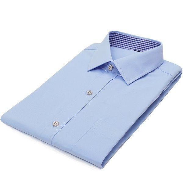 French Cuff Dress Shirt - Sky Blue