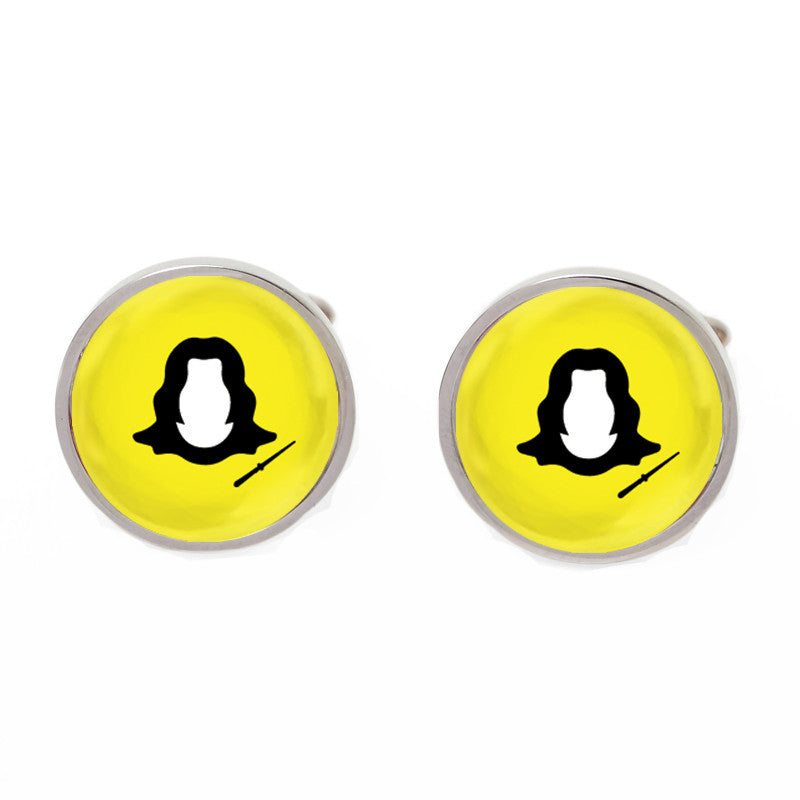 Yellow Novelty Movie Cufflinks - Snape Chat