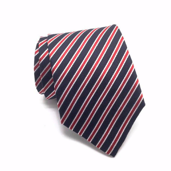 Black and Red Stripe Tie - Caleb