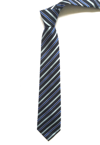 Ties - Blue Stripe Tie - Christopher - The Little Link