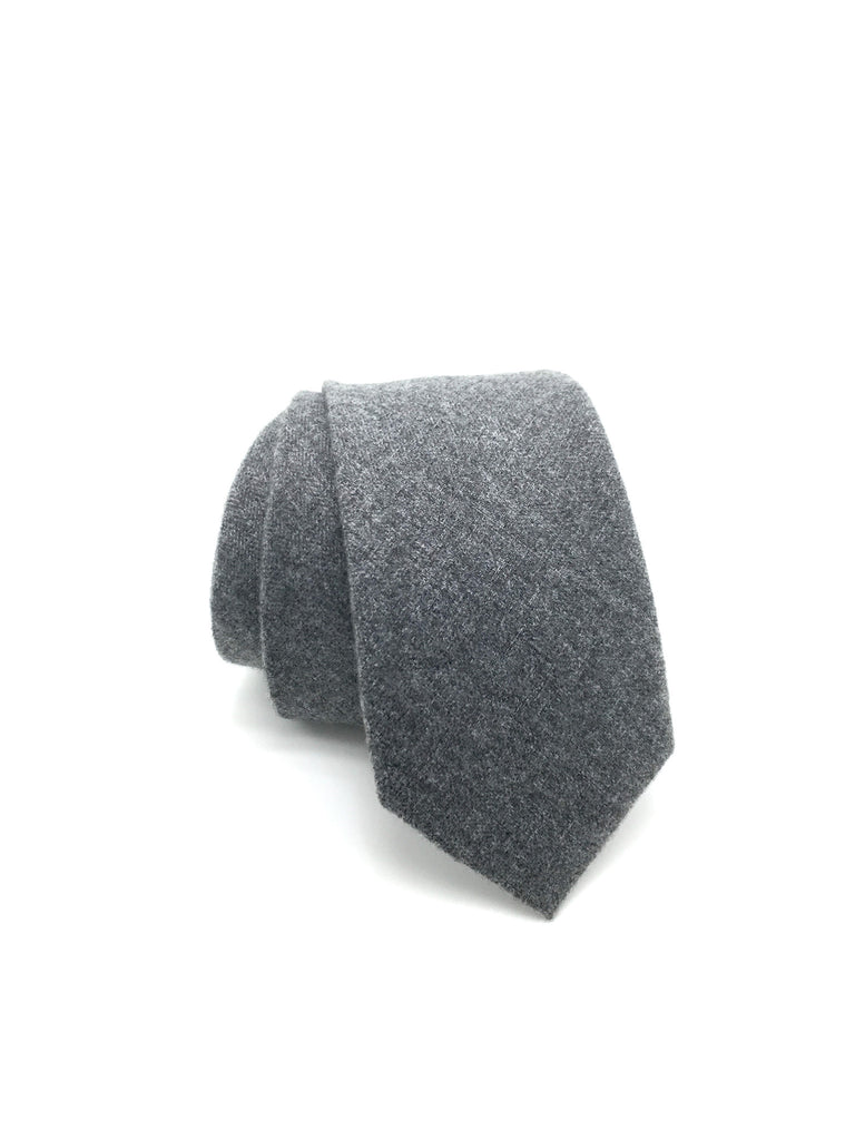 Grey Solid Tie - WIlliam