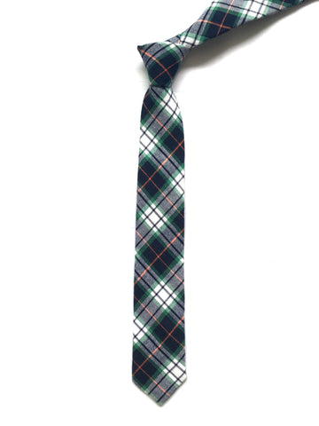 Green and Black Plaid Tie - Joseph