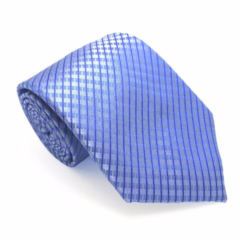 Blue Textured Silk Tie - Tanner