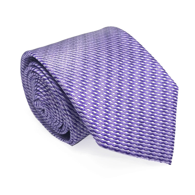 Purple Textured Silk Tie - Tate