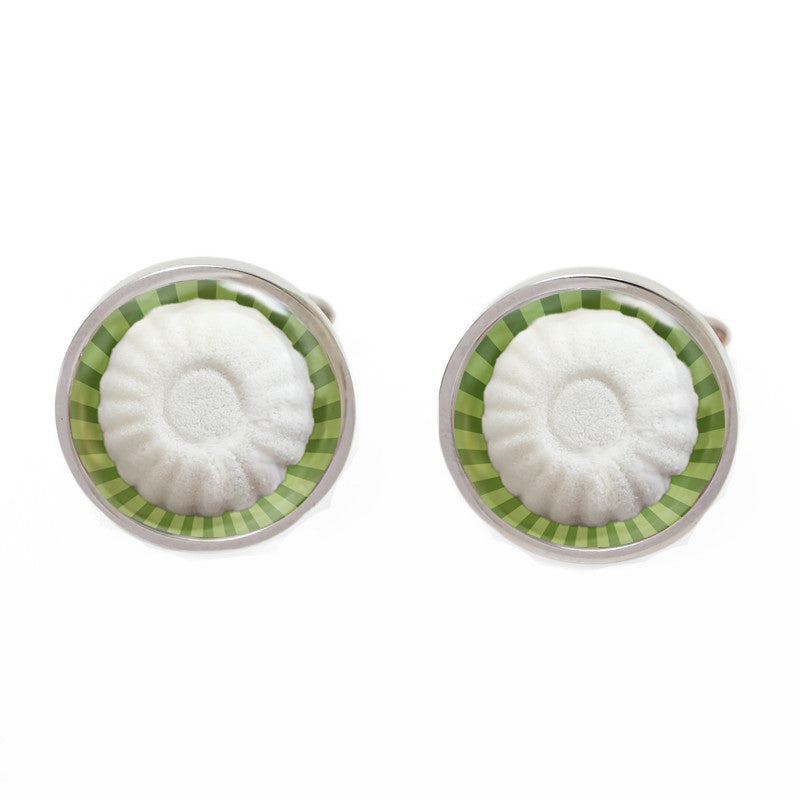 Green Novelty Singapore Cufflinks - Tutu Kueh