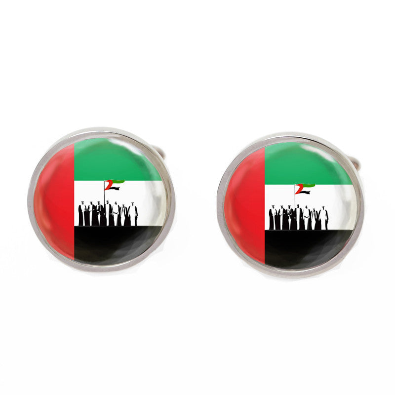 Red and Green Flag Cufflinks - Spirit of the Union UAE
