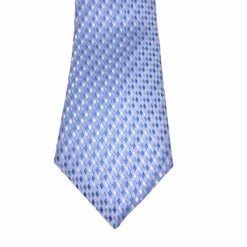 Blue Patterned Silk Tie  - Waldon