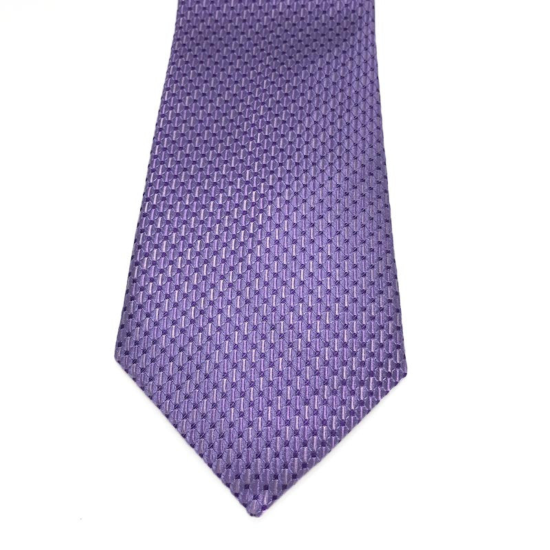 Ties - Waller Purple Silk Tie - The Little Link