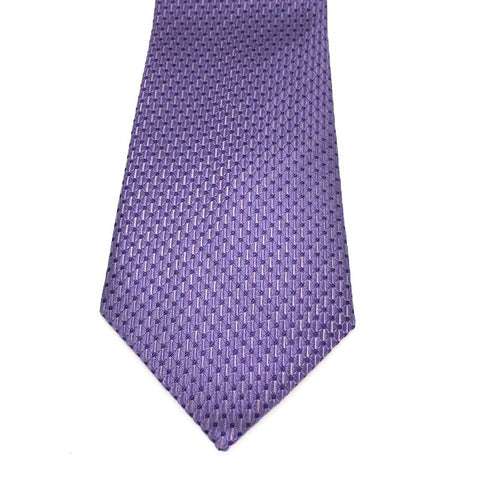 Purple Patterned Silk Tie -  Waller