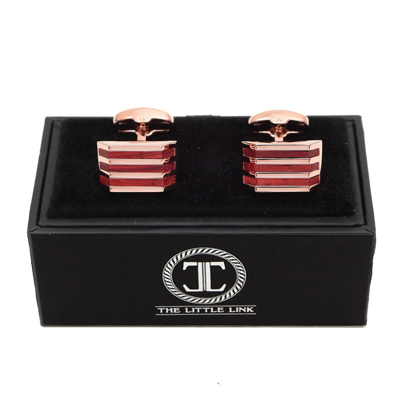 Classic Cufflinks - Rosewood - The Little Link