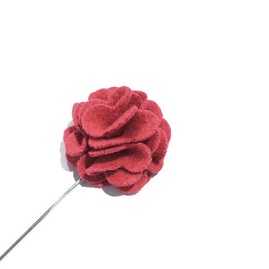 Lapel Pins - Pink Wool Lapel Rose - The Little Link
