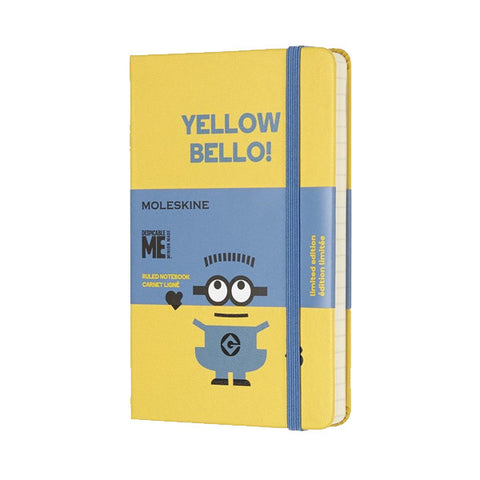 Limited Edition Minions Moleskine Pocket Notebook - Yellow