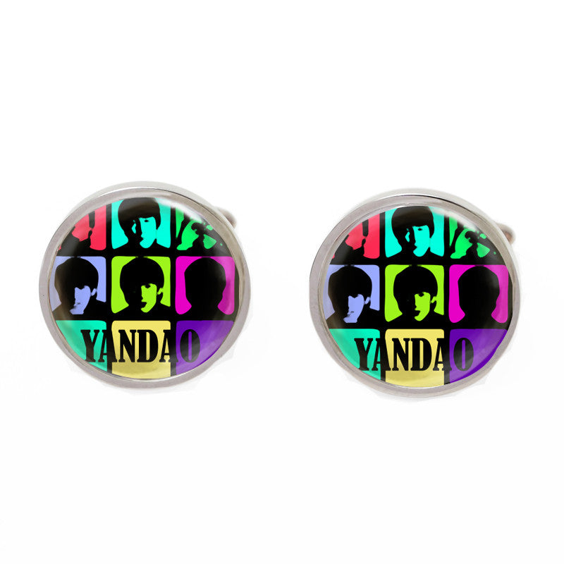 Black Novelty Singapore Cufflinks - Yandao