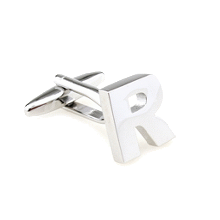 Customized Cufflinks - Alphabet Initials Cufflinks - The Little Link