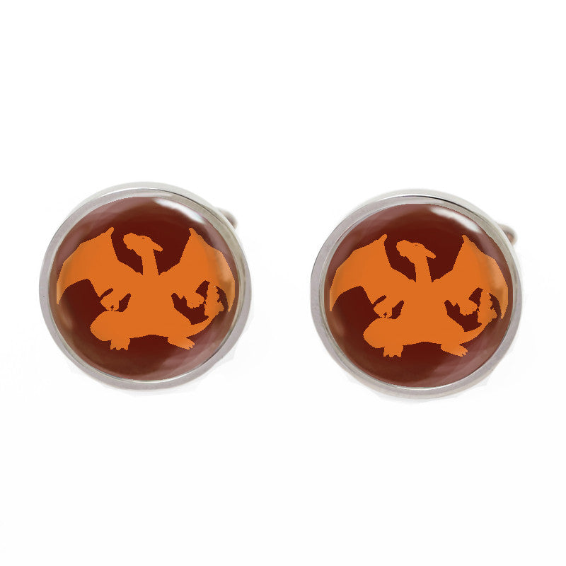 Novelty Cufflinks - Red Cartoon Cufflinks - Pokemon Blaze - The Little Link