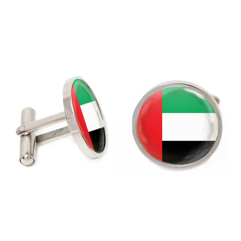 Novelty Cufflinks - Emirates Flag - The Little Link