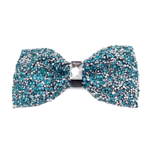 Turquoise Crystal Bow Tie - Vesper