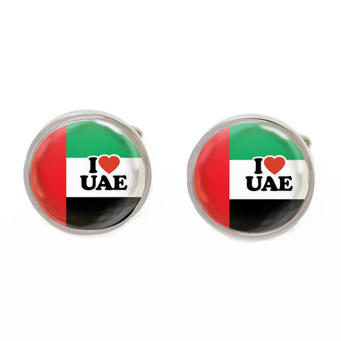 Green and Red Flag Cufflinks - UAE Show the Love
