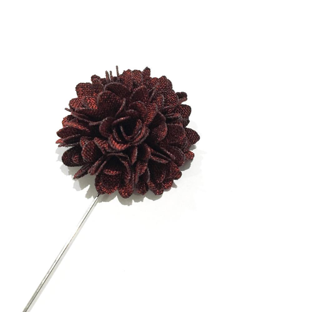 Maroon Carnation Lapel Flower