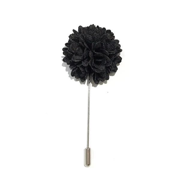 Black Carnation Lapel Flower