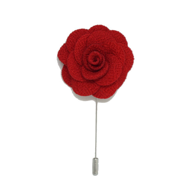 Blood Red Lapel Pin Rose Boutonniere
