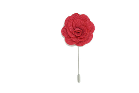 Hot Pink Lapel Pin Rose Boutonniere