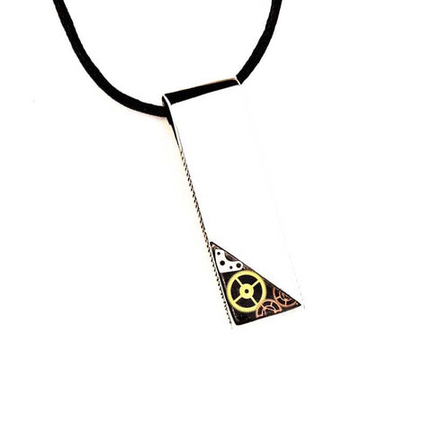 Timeless Gear Pendant Necklace